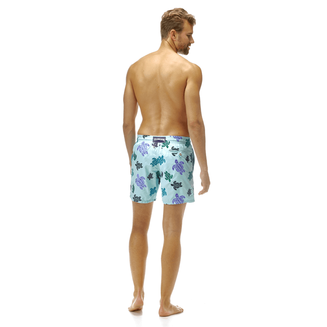 Vilebrequin - Maillot de bain Mistral Broderie Tortues Multicolores All Over - 4