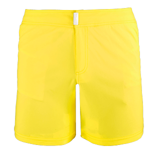 Men Flat belts Solid - Men Flat Belt Stretch Swimwear Solid, Lemon front