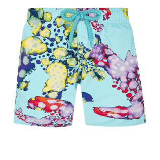 Boys Others Printed - Boys Swim Trunks Watercolor Turtles, Acqua front