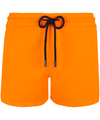 Men Short classic Solid - Men Swimwear Short and Fitted Stretch Solid, Safran front