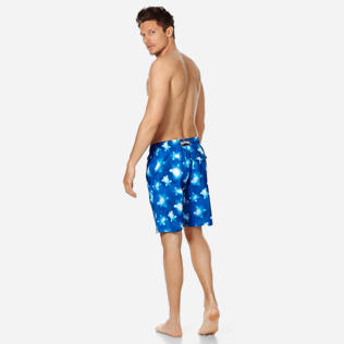 Men Long classic Printed - Men Swimwear Long Ultra-Light and Packable Crystal Turtles, Atoll backworn