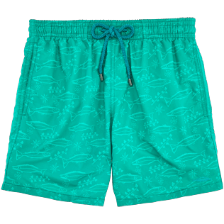 Men Classic Printed - Water-reactive Sardines à l'Huile Swim shorts, Veronese green supp4