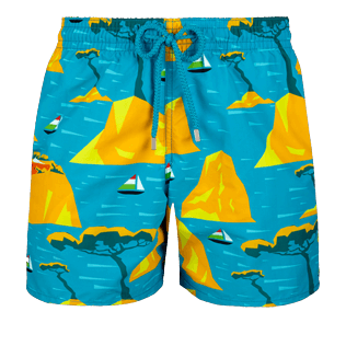 Men Classic Printed - Men swimtrunks Capri, Seychelles front