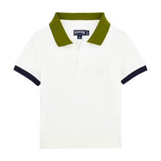Boys Others Solid - Boys Cotton Pique Polo shirt Multicolor, White front