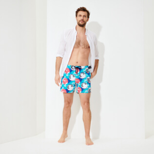 Men Classic Printed - Men Swimwear Mappemonde Dots 360 printed, Light azure supp2