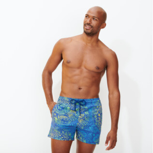 Hombre Clásico stretch Estampado - Men Stretch Swimwear Evening Birds, Batik azul supp2