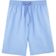 Men Long classic Solid - Solid Long Cut Swim shorts, Sky blue front