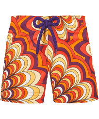 Girls Others Printed - Girls Swim Short 1975 Rosaces, Apricot front