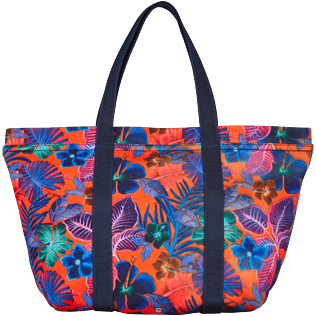 Others Printed - Water resistant big Beach Bag Porto Rico, Bright orange back