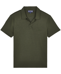 Men Others Solid - Men Tencel Polo Shirt Solid, Pepper front
