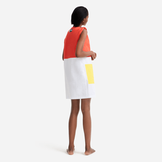 Women Others Solid - Women multicolor sleeveless dress - Vilebrequin x JCC+ - Limited Edition, White backworn