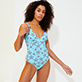 Women One piece Printed - Women One piece Swimsuit Starfish Dance, Lazulii blue supp3