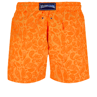 Men Classic Printed - Men Swim Trunks Ocean Paisely, Curry back