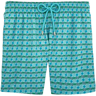 Men Ultra-light classique Printed - Les 4 Élements Lightweight Packable Swim shorts, Lagoon front