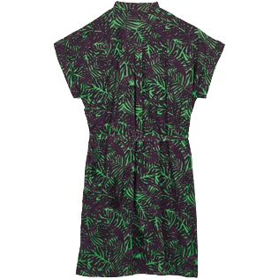 Women Others Printed - Women Cotton Shirt Dress Madrague, Grass green back