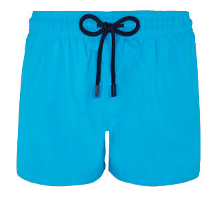 Men Short classic Solid - Men Swim Trunks Short and Fitted Stretch Solid, Hawaii blue front