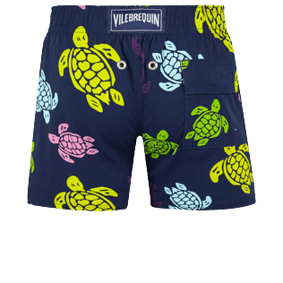 Boys Others Printed - Boys Swim Trunks Stretch Ronde des tortues, Navy back