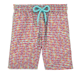 Boys Others Printed - Boys Swimtrunks Modernist Fish, Lagoon front