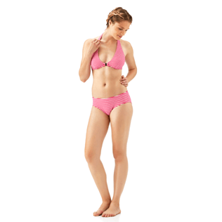 Mujer Bottoms Gráfico - Braguitas de bikini con estampado Graphic, Shocking pink supp1