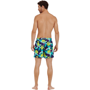Men Classic Printed - Men Swimtrunks Koalas, Navy backworn