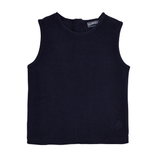 Girls Tee-Shirts Solid - Girls Tank Top in Terry Cloth Solid, Navy front