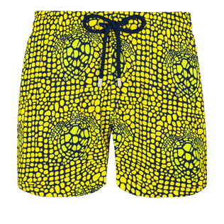 Men Stretch classic Printed - Men Swimwear Stretch Shell Turtles, Citron front