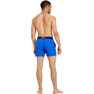 Men Ultra-light classique Solid - Men Swimwear Ultra-light and packable Bicolour, Royal blue backworn