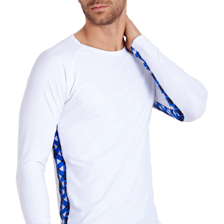 Men Others Printed - Men Rashguard Re Mi Fa Soles, White supp1