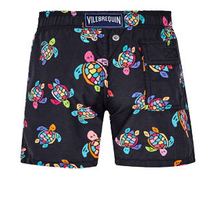 Boys Others Printed - Boys Swim Trunks Over the Rainbow Turtles, Black back