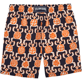 Men Classic / Moorea Printed - Primitive Turtles Swim shorts, Navy back