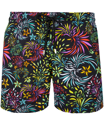 Men Stretch classic Printed - Men Stretch Swimwear Evening Birds, Black front