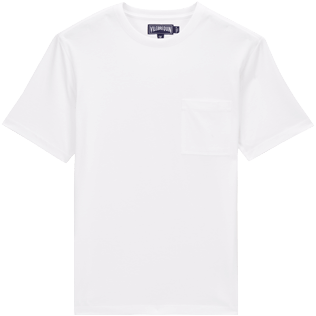 Men Others Solid - Men Pima Cotton Jersey T-Shirt Solid, White front