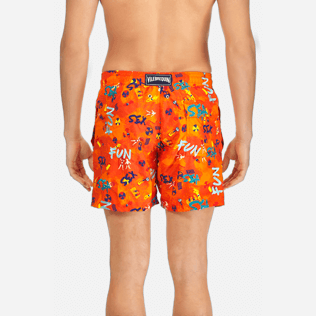 Men Classic / Moorea Embroidered - Men Swimtrunks Printed and Embroidered Sea Sex and Fun - Limited Edition, Kumquat supp2