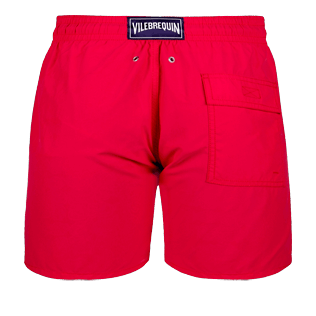 Men Classic Printed - Men water-reactive swimtrunks Tulum, Gooseberry red back
