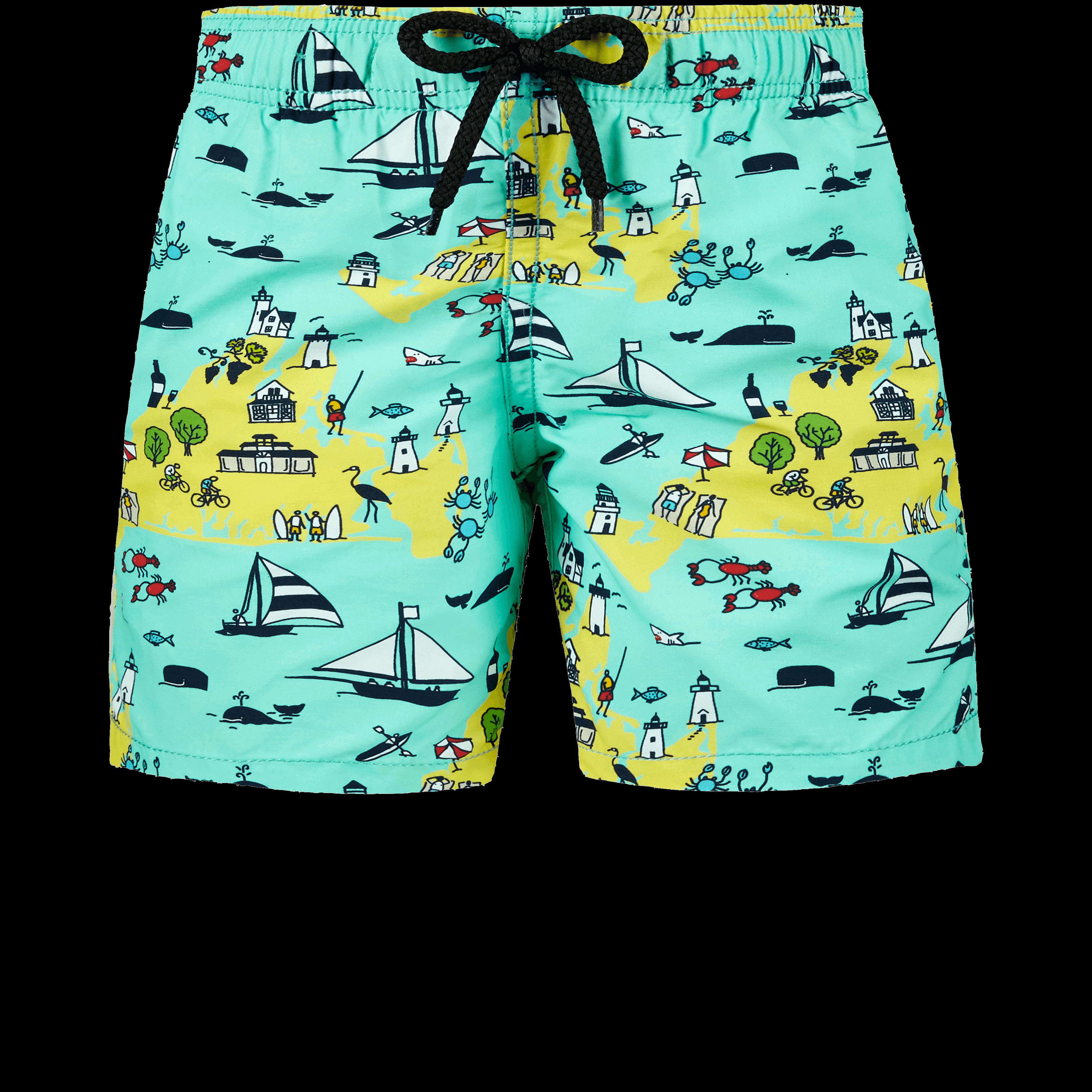 VILEBREQUIN | Boys Swimwear - Boys Swimwear Martha's Vineyard - SWIMMING TRUNK - JIM - Green - 14 - Vilebrequin | Goxip