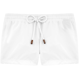 Women Shorties Solid - Solid Straight cut shortie, White front