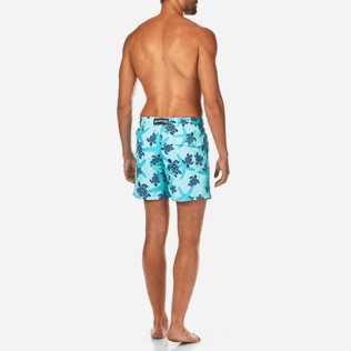 Men Classic / Moorea Printed - Starlettes & Turtles Swim shorts, Lagoon backworn