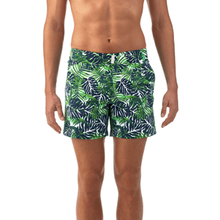 Men Fitted Printed - Madrague Fitted cut Swim shorts, White supp2