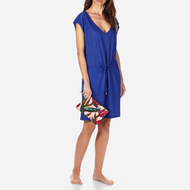 Vilebrequin - Robe courte en Jersey de lin Femme Unie - 7