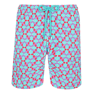 Men Long classic Printed - Men Swim Trunks Long Data Turtles, Cherry blossom front
