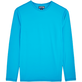 Men 049 Solid - Turtles Anti-UV long sleeves T-Shirt, Azure front
