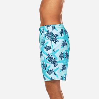 Men Long classic Printed - Starlettes & Turtles Long Cut Swim shorts, Lagoon supp3