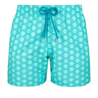 Men Classic Printed - Men Swimwear Ancre De Chine, Mint front
