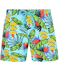 Boys Others Printed - Boys Swim Trunks Stretch Go Bananas, Lazulii blue front