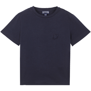 Boys Others Printed - Cotton Boys T-Shirt Crackers, Navy front