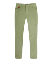 Men Others Solid - Men Corduroy Carrot Fit Pants, Nenuphar front
