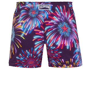 Girls Others Printed - Girls Swim Short Fireworks, Navy back
