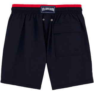 Men Classic / Moorea Solid - Solid Bicolor Swim shorts, Navy / red back