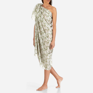 Women Others Printed - Pareo Bamboo Song, White supp2
