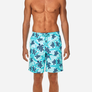 Men Long classic Printed - Starlettes & Turtles Long Cut Swim shorts, Lagoon supp1